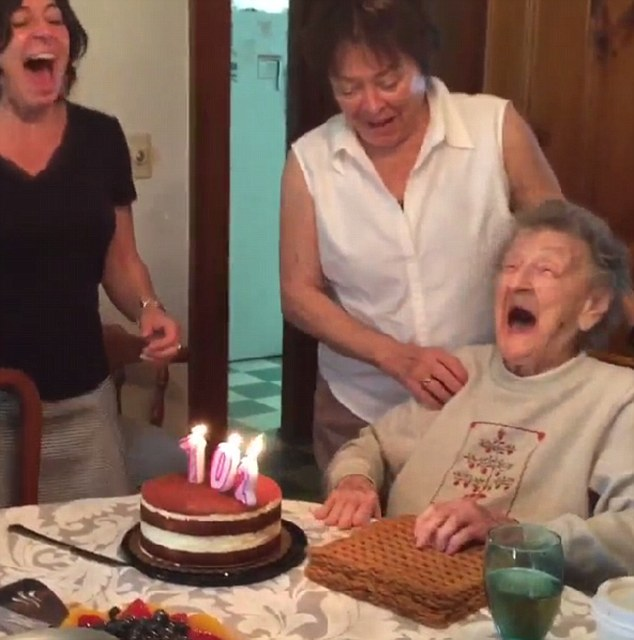 Viral News And Advertorial Writer: Grandma Loses Her Teeth Blowing Out Candles For 102